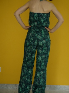 Liberty jumpsuit with tie-neck