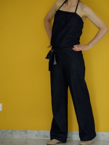 Lightweight denim jumpsuit